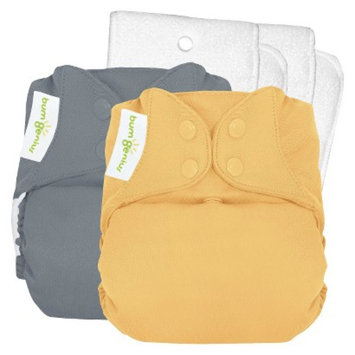 Bum Genius bumGenius 4.0 Snap Reusable Diaper 2 Pack - Armadillo/Clementine