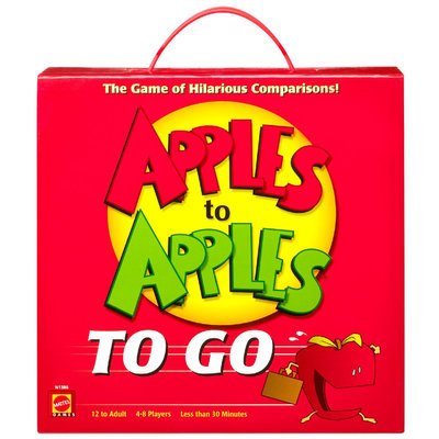 Mattel, Inc. Apples to Apples To Go The Game of Hilarious Comparisons!
