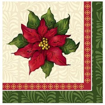 Hanna K Signature Hanna K. Signature 99024 Poinsettia Christmas Lunch Napkin - 1440 Per Case