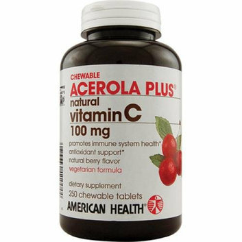 American Health Acerola Plus Natural Vitamin C Chewable Berry 100 mg 250 Chewables