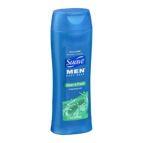 Suave Men's Clean & Fresh Body Wash 12 oz