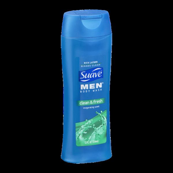 Suave Men's Clean & Fresh Body Wash 12 oz