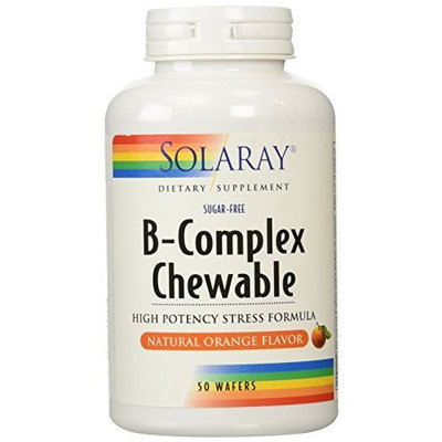 Solaray B-complex Chewable, 250 mg, 50 Count