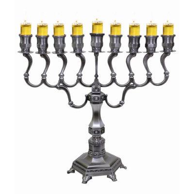 Artsy Casa Lamp Lighters Ultimate Judaica Menorah Pewter 14H