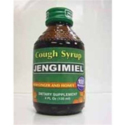 Jengimiel - Cough Syrup For Adults with Ginger, Honey and Aloe - 4 oz, 3 Pack