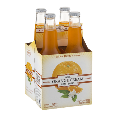 WBC Orange Cream Craft Sodas - 4 PK