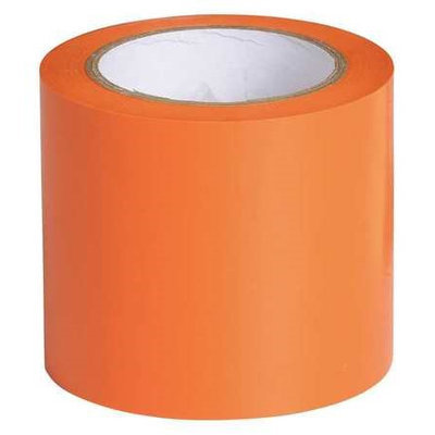BRADY 102835 Marking Tape, Cont Roll, Orange, Vinyl,4inW