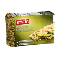 Ryvita Wholegrain Rye Crispbread Pumpkin Seeds & Oats
