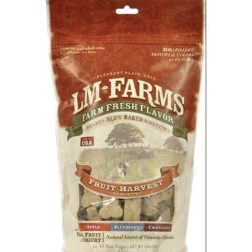 L M Animal L/M Animal Farms DLM13657 Fruit Harvest Dog Biscuits, 14-Ounce