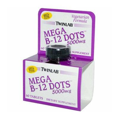 Twinlab Mega B-12 Dots 5000 mcg 60 Tablets