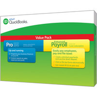 Quickbooks Intuit QuickBooks Pro 2015 with QuickBooks Enhanced Payroll (PC)