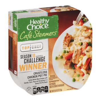 Healthy Choice Cafe Steamers Top Chef Crustless Chicken Pot Pit