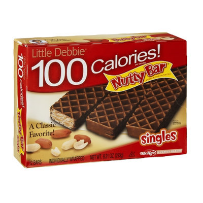 Little Debbie 100 Calories! Nutty Bar Singles - 12 CT