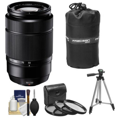Fujifilm 50-230mm f/4.5-6.7 XC OIS Zoom Lens (Black) with 3 UV/CPL/ND8 Filters + Tripod Kit for Fuji X-A1, X-E1, X-E2, X-M1, X-Pro1 Digital Cameras