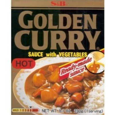 Prepared Sauce S&B Golden Curry Sauce With Vegetables 8.1oz , 230g (Hot) (5 Packs)