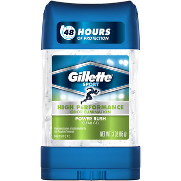 Gillette Sport High Performance Power Rush Clear Gel Anti-Perspirant/Deodorant, 3 oz