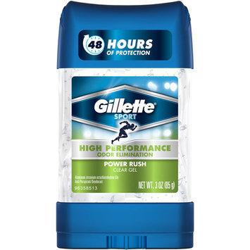 Gillette Sport High Performance Power Rush Clear Gel Anti-Perspirant/Deodorant, 3 oz