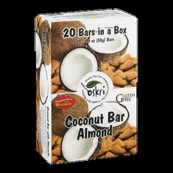 Oskri Coconut Bar Almond - 20 CT