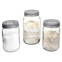 Cathy's Concepts Personalized Mason Jar Sand Ceremony Set with Letter V