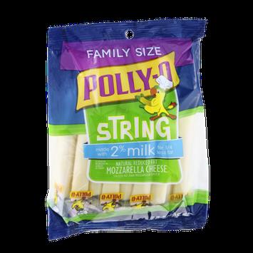 Polly-O Reduced Fat Cheese Snack String Mozzarella - 24 CT