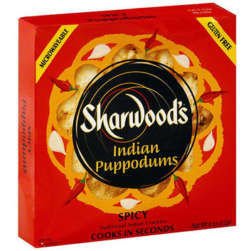 Sharwood's Puppodums Spicy Indian Crackers