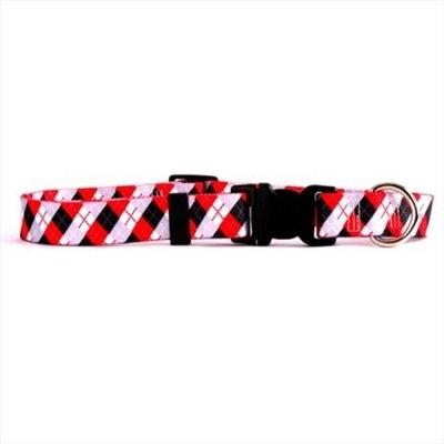 Yellow Dog Design BKA100TC Black Argyle Standard Collar - Teacup