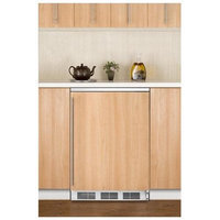 Summit FF6BIIF 24 Built-in Compact Refrigerator with Adjustable Wire Shelves