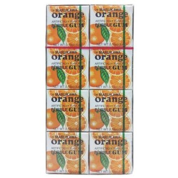 Marukawa Bubble Gum, Orange, 1.52-Ounce Packages (Pack of 12)