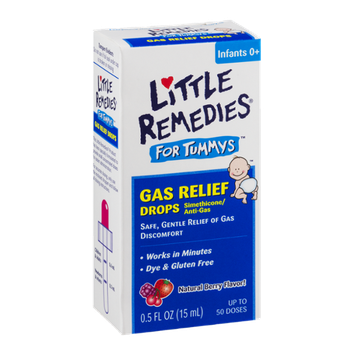 Little Remedies For Tummys Gas Relief Drops Infants 0+ Natural Berry Flavor