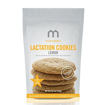 Milkmakers Bumpboosters Milkmakers Lactation Cookies, Bag - Lemon - 10 Count [10 Cookies]