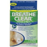 Health Right Breathe Clear Nasal Strip, Clear, Medium/Large, 7 Count