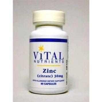 Vital Nutrients Zinc Citrate 30 mg 90 Capsules