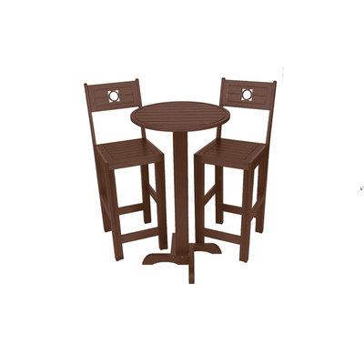 Bar Commercial Grade Bistro Set, Brown