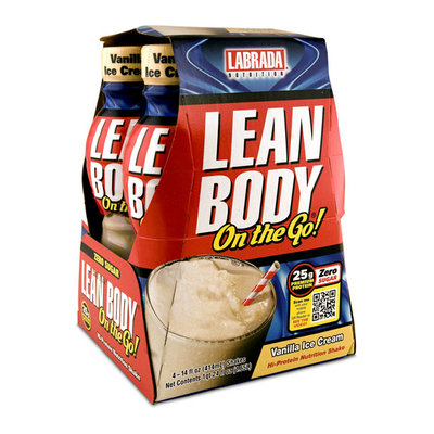 Lean Body on the Go Vanilla Ice Cream Hi-Protein Nutrition Shake