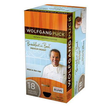 Wolfgang Puck Breakfast in Bed Medium Roast Single Cup Coffee Pods