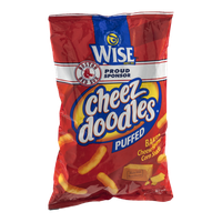Wise Cheez Doodles Puffed Baked Cheese Flavored Corn Snacks