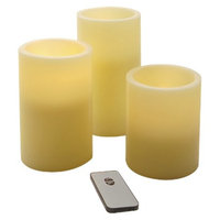 Lumabase Wax LED Remote Control Flickering Candles