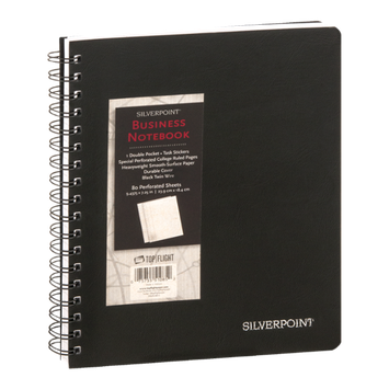 Silverpoint Business Notebook - 80 Perforated Sheets