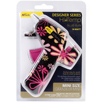 Ad-tech Designer Mini Glue Gun-High Temp Daisy Print