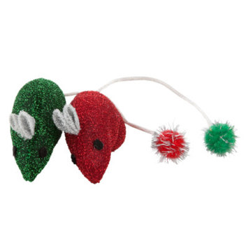 Whisker CityA Sparkle Mice Holiday Cat Toys