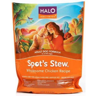 Halo Spot's Stew Natural Dry Dog Food, Adult Dog, Wholesome Chicken Recipe, 30-Pound Bag
