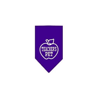 Ahi Teachers Pet Screen Print Bandana Purple Large