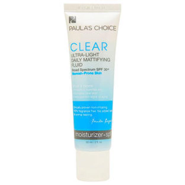 Paula's Choice CLEAR Ultra-Light Daily Mattifying Fluid SPF 30+, 2 fl oz