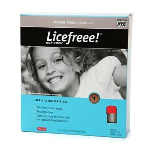 Licefreee! Homeopathic Lice Killing Hair Gel (2 Treatments)
