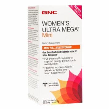 GNC Women's Ultra Mega Mini Pill Multivitamin, Tablets, 90 ea