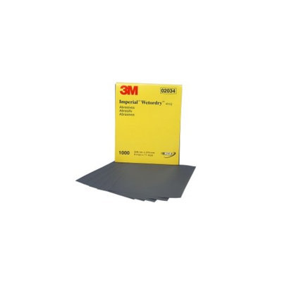 3M 2034 Imperial Wet/Dry 1000-Grit Sandpaper Sheets, 9-In x 11-In - 50-Pack