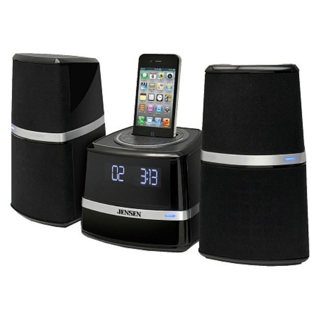 Jensen Docking Station with Speakers for iPod & iPhone JIMS-252I