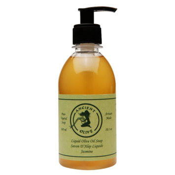 Ancient Olive Natural Olive Oil & Laurel Oil Liquid Soap, Jasmine, 10.1 oz