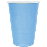 Hanna K Signature Hanna K. Signature 81160 18 Oz Light Blue Plastic Cup - 600 Per Case