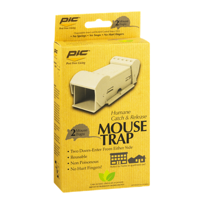 Pic Humane Catch & Release Mouse Trap - 2 CT